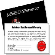 Lifetime Warranty card
