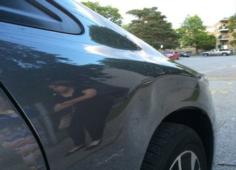 Honda Civic Dent Repair- Fender Dent Damage - Side Pic