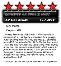 5 Star rating from Kingston, ON