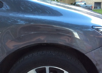 Honda Civic Dent Repair- Fender Dent Damage - Front Pic